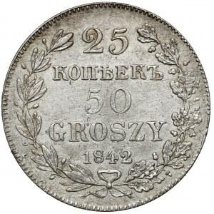25 kopiejek = 50 groszy 1842 MW, Warszawa - rzadki