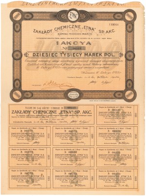 Zakłady Chemiczne ETNA, 10.000 mkp 1923