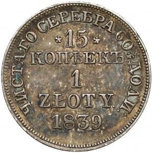 15 kopiejek = 1 złoty 1839 MW, Warszawa