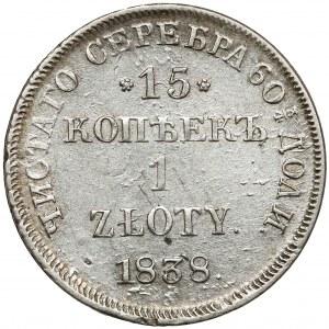 15 kopiejek = 1 złoty 1838 ПГ, Petersburg - rzadsze
