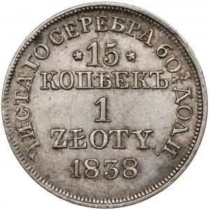 15 kopiejek = 1 złoty 1838 MW, Warszawa