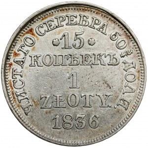 15 kopiejek = 1 złoty 1836 MW, Warszawa