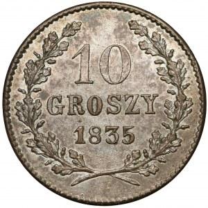 Wolne Miasto Kraków, 10 groszy 1835 - mennicza