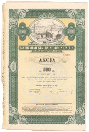 Jaworznickie Komunalne Kopalnie Węgla, 500 zł 1932