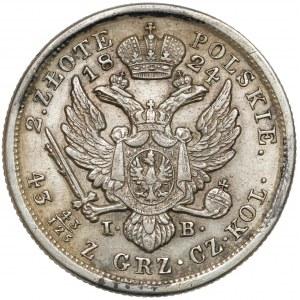2 złote polskie 1824 I.B. - bardzo ładny