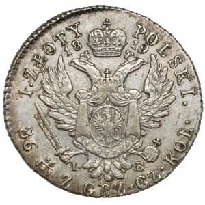1 złoty polski 1819 IB - pierwszy typ