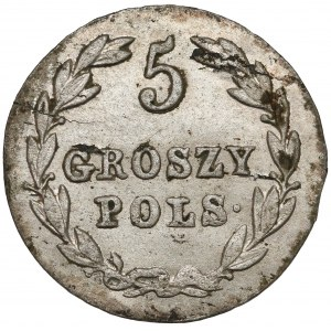 5 groszy polskich 1827 F.H.