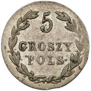 5 groszy polskich 1821 IB