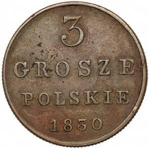 3 grosze polskie 1830 FH - b.ładne