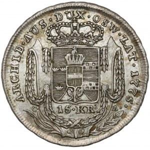 Zabór austriacki, Oświęcimsko-Zatorskie, 15 krajcarów 1775