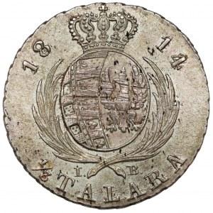Księstwo Warszawskie, 1/3 talara 1814 I.B. - piękna