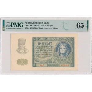 5 złotych 1940 - Ser.A