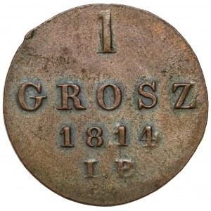 Księstwo Warszawskie, Grosz 1814 I.B. - piękny