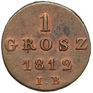 Księstwo Warszawskie, Grosz 1812 I.B.