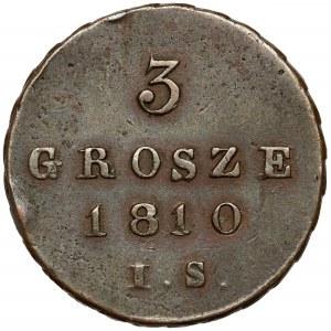 Księstwo Warszawskie, 3 grosze 1810 I.S. - ładne