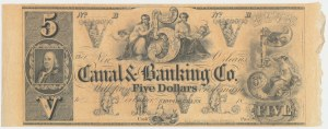 Canal & Bankning Co, 5 Dollars 18[xx]