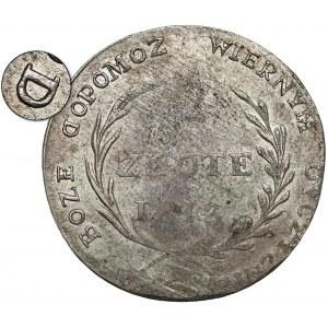 Oblężenie Zamościa, 2 złote 1813 - odwrócone D - piękna i b.rzadka