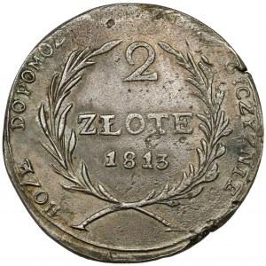 Oblężenie Zamościa, 2 złote 1813 - ładne
