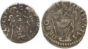 Watykan, zestaw monet srebrnych (2szt)