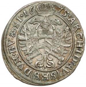 Śląsk, Leopold I, 6 krajcarów 1675 SHS, Wrocław