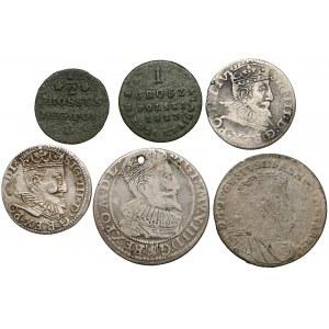 Od Zygmunta III Waza do zaborów - różne nominały (6szt)