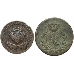 Zabory - 1 grosz 1794 i 3 grosze 1816 (2szt)