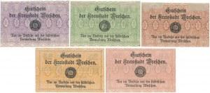 Wreschen (Września), 5 - 50 pfg 1920 (5szt)