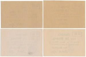 Strelno (Strzelno), 2x 10 i 2x 50 pfg 1917 (4szt)