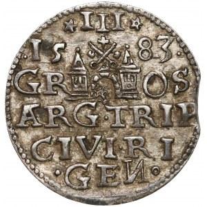 Stefan Batory, Trojak Ryga 1583 - b.ładny