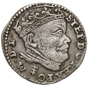 Stefan Batory, Trojak Wilno 1585 - herb Lis przed M