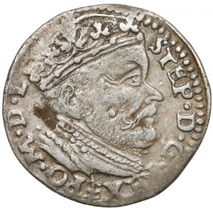 Stefan Batory, Trojak Wilno 1585 - herb Lis
