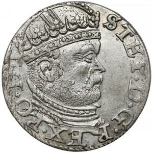 Stefan Batory, Trojak Ryga 1586 - duża głowa, rozetki - rzadki