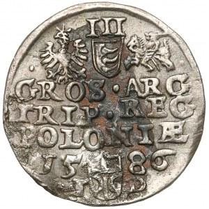 Stefan Batory, Trojak Olkusz 1586 - NH w otoku - rzadki