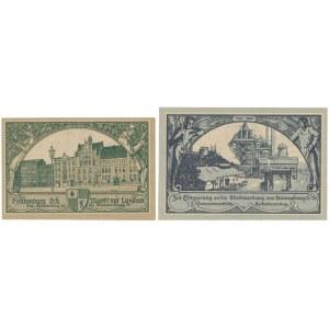 Hindenburg (Zabrze), 100.000 i 500.000 mk 1923 - bez numeru (2szt)