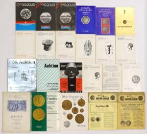 Niemieckie domy aukcyjne - katalogi (23szt)