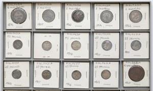 Finlandia / Rosja, 1 pennia - 2 markkaa 1865-1917, zbiorek (40szt)