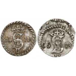 Zygmunt III Waza, Dwudenar Wilno 1611 i 1613 (2szt)
