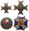 Plansza z KOPIAMI odznak Kawalerii i Artylerii (73szt)