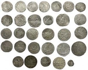 Niemcy, od XVI do XVIII wieku, duży zestaw monet (30szt)