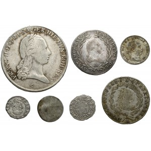 Austria / Austro-Węgry, od Talara do denara, zestaw (7szt)
