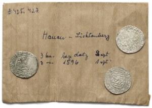 Hanau-Lichtenberg, 3 Kreuzer o.J. und 3 Kreuzer 1596