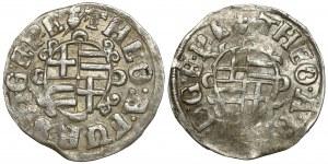 Paderborn, Bistum, Theodor von Fürstenberg, 1/24 Taler 1611 und 1612 (2szt)