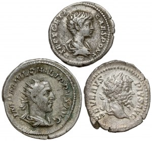 Cesarstwo Rzymskie - zestaw denarów (3szt)