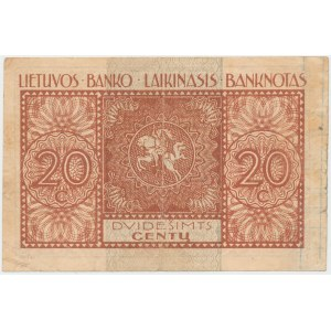 Lithuania, 20 Centu 1922 - September issuse