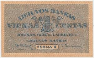 Litwa, 1 Centas 1922 - listopad
