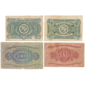 Litwa, 1 - 10 Centu 1922 - wrzesień / listopad (4szt)