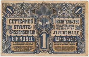 Łotwa, 1 Rublis 1919 - A