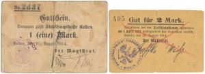 Budsin (Budzyń), 2 mk 1914 i Kosten (Kościan), 1 mk 1914 (2szt)