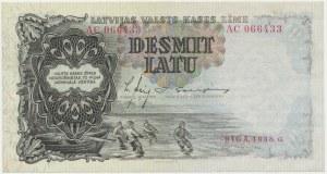 Łotwa, 10 Latu 1938