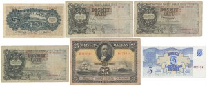 Latvia, set of banknote from 1928-92 years (6pcs)